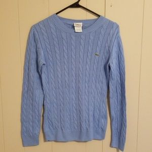 Lacoste Blue Cable Knit Sweater